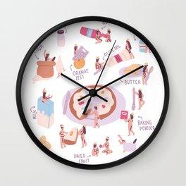 Roscón de Reyes Wall Clock