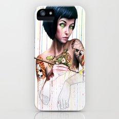 Off-color Clara iPhone (5, 5s) Slim Case