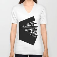 noir V-neck T-shirts featuring Noir by Ryan Bradford