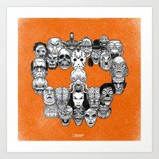Monster Skull Art Print