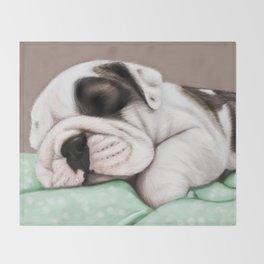 Sleeping Puppy Throw Blanket