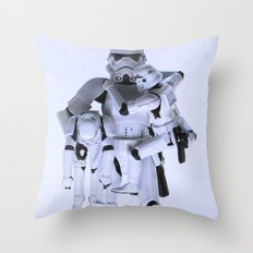 Trooper with Kids Throw Pillow