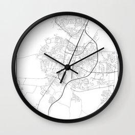 Minimal City Maps - Map Of Aalborg, Denmark. Wall Clock
