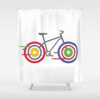 bike Shower Curtains featuring Bike! by Alice Wieckowska