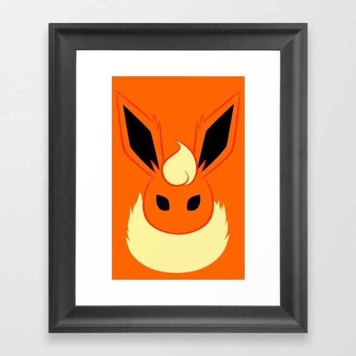 Flame Framed Art Print
