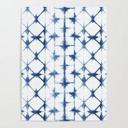 Shibori Diamonds Poster