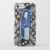 seahawks iPhone & iPod Cases featuring Seahawks poly style by Lonica Photography & Poly Designs