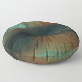Classical Masterpiece 'Aurora Borealis' by Frederic Edwin Church Floor Pillow