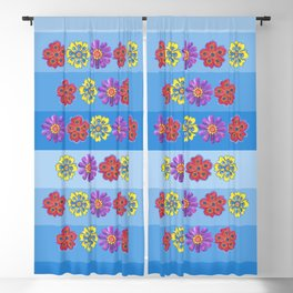Stacks of Flowers Blackout Curtain