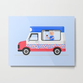 Ice-cream Truck Metal Print