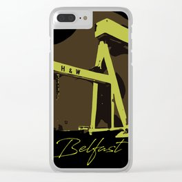 Iconic Harland and Wolff vector art Belfast Clear iPhone Case