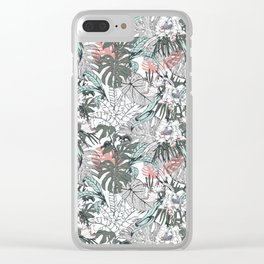 Tropical wild jungle paradise Clear iPhone Case