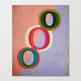 Circles Abstract Canvas Print