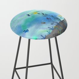 Blue Garden I Bar Stool