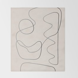 Abstract Line III Throw Blanket