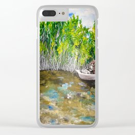 Florida Mangrove Tea Water in the Everglades Clear iPhone Case
