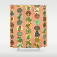 succulents Shower Curtains featuring Succulents by SarahRobbins