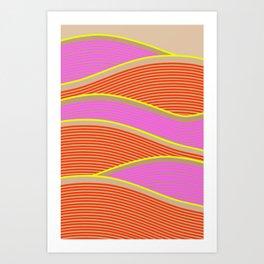Happy Times - Flower Hills Art Print