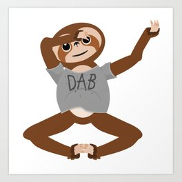 Sloth Dabbing Art Print