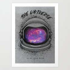 The universe mind Art Print