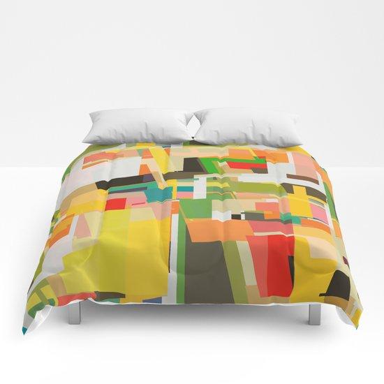 multicolored wild areas Comforters
