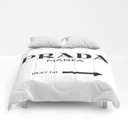 PradaMarfa sign Comforters