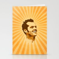 jack nicholson Stationery Cards featuring Nicholson by Durro