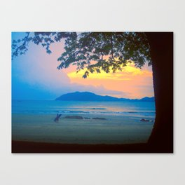 Strolling Surfer Canvas Print
