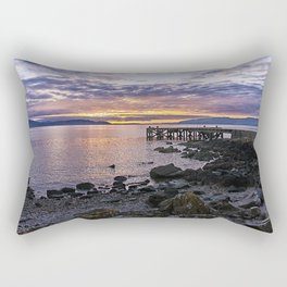 Portencross Jetty Sunset Rectangular Pillow