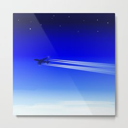 Jet Heading Home Metal Print