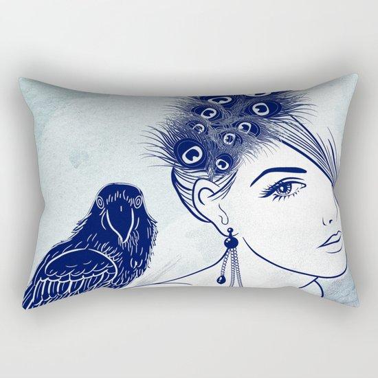 Parrot Girl Rectangular Pillow