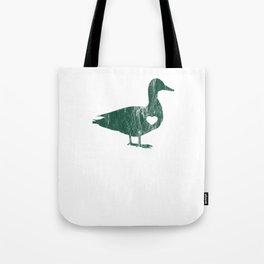 I Love Ducks Green Fowl Waterfowl Hunter Quack Tote Bag
