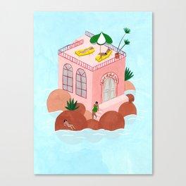 Petit Hôtel Rose Canvas Print