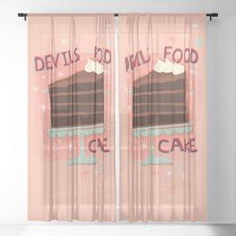 Devil's Food Cake An All American Classic Dessert Sheer Curtain