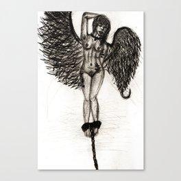 Bird Set Free Pencil Canvas Print