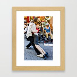 Jitterbug end Framed Art Print