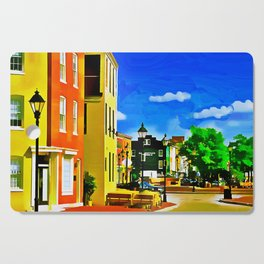 Fells Point Square, Baltimore, Maryland Cutting Board