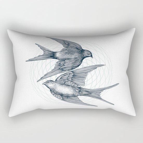 Two Swallows Rectangular Pillow