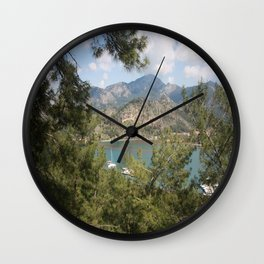 Kizkumu Maiden's Beach Orhaniye Bozburun Peninsula Wall Clock