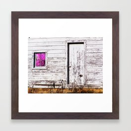 Siler City Barn with Zinnia  Framed Art Print