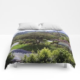 Country side landscape-  Valle del Cauca - Colombia Comforters