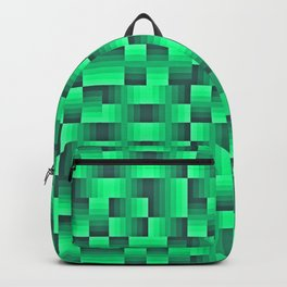 Deep Sea Green Geo Pattern Backpack