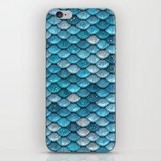 Luxury turquoise mermaid sparkling glitter scales- Mermaidscales iPhone & iPod Skin