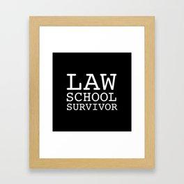 Law School Survivor Framed Art Print