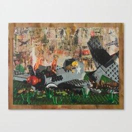 P40 Crash Canvas Print
