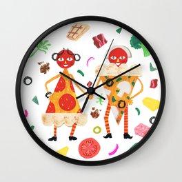 Pizza Folk Wall Clock