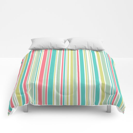 Candy Stripe Pastels Comforters