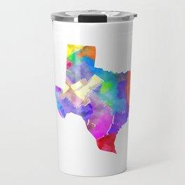 Texas Watercolor Travel Mug
