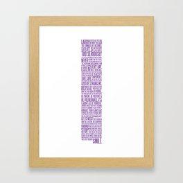The AMS Manifesto Framed Art Print