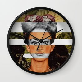 "Frida Kahlo ""Self Portrait with Thorn Necklace"" & Joan Crawford Wall Clock"